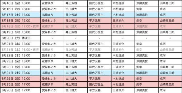 エリザベートキャストスケジュール8月2.JPG